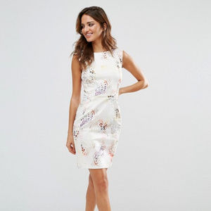 French Connection Tiger Shark Fitted Dress NWT